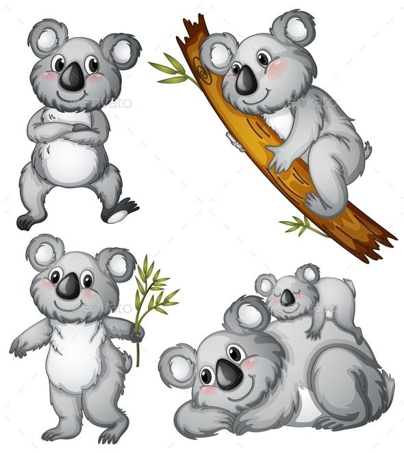 GraphicRiver A Group of Koalas 9493827