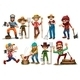 Farmers and Lumberjacks - GraphicRiver Item for Sale