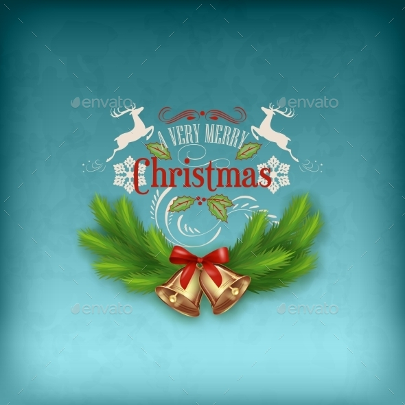 GraphicRiver Vintage Vector Christmas Card 9493857