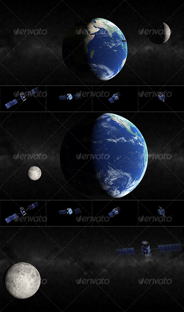 3DOcean Earth-Moon-Satellite 121332
