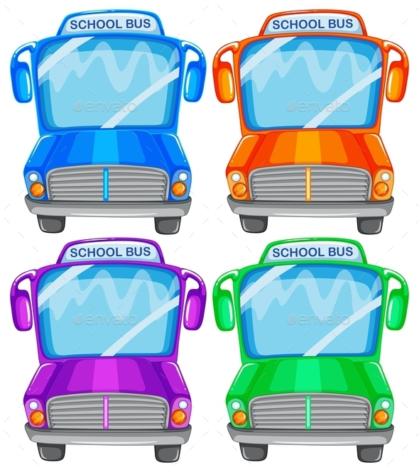 GraphicRiver School Buses 9493964