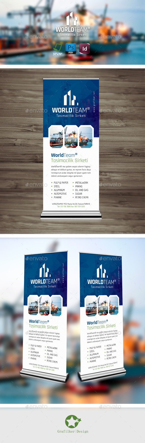 GraphicRiver International Roll-Up Templates 9494069