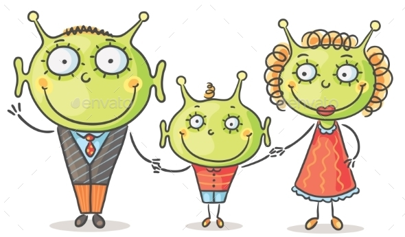 GraphicRiver Alien Family 9494312