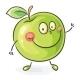 Smiling Cartoon Apple - GraphicRiver Item for Sale