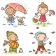 Little Kids Autumn Activities - GraphicRiver Item for Sale