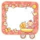 Frame with Baby-Girl Things - GraphicRiver Item for Sale