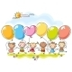 Colourful Balloons - GraphicRiver Item for Sale