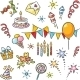 Cartoon Birthday Set - GraphicRiver Item for Sale