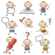 Little Boy with Different Signs and Objects - GraphicRiver Item for Sale