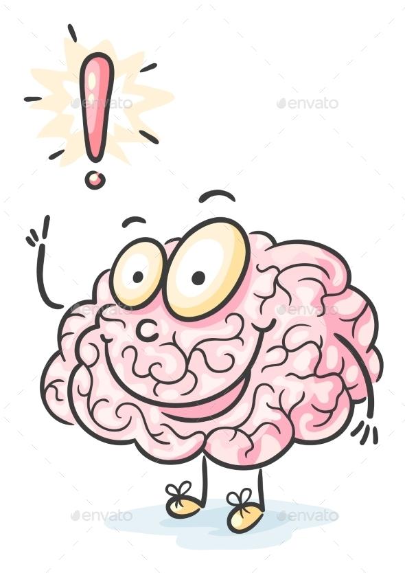 GraphicRiver Cartoon Brain Having an Idea 9494453