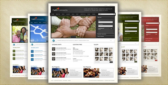 Faith Connect Xhtml Template