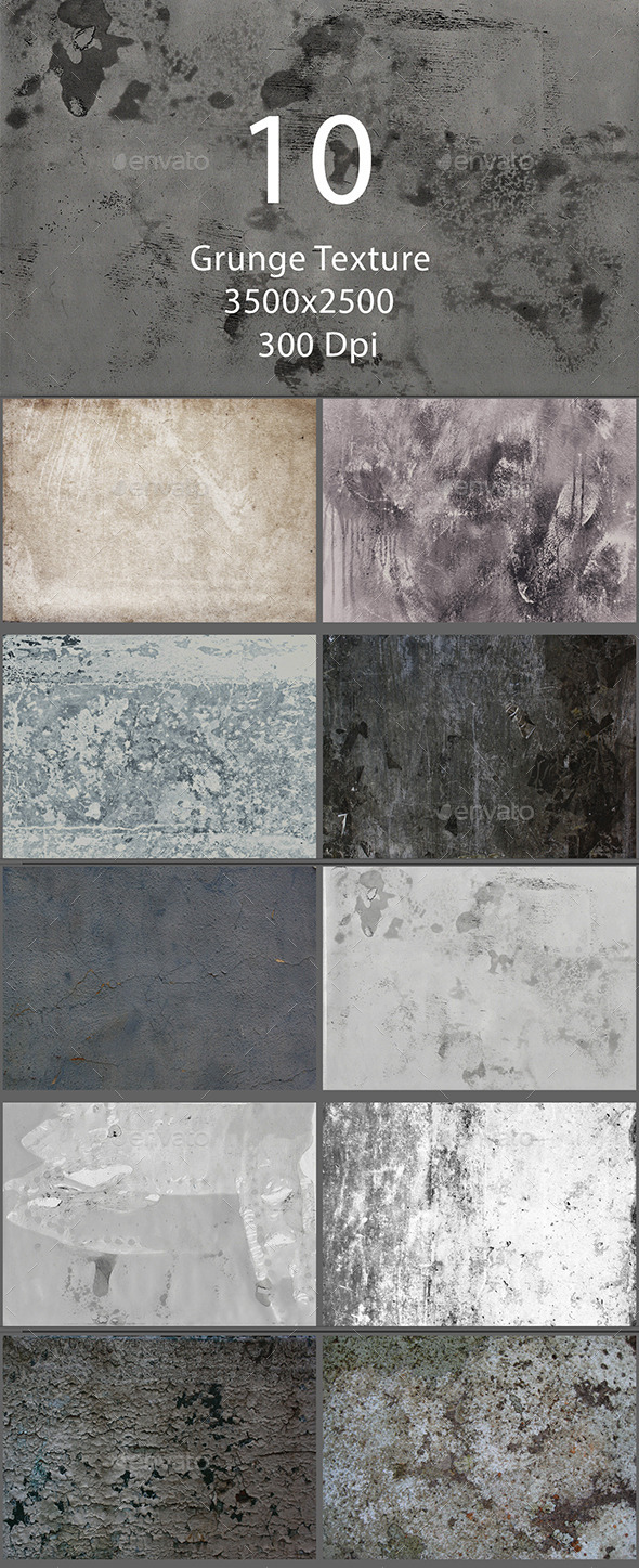 GraphicRiver 10 Grunge Texture 9495275
