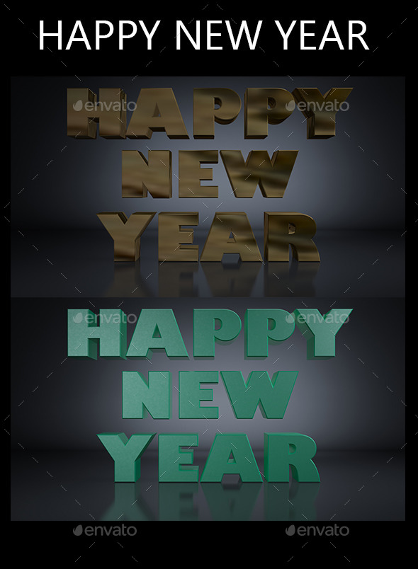 GraphicRiver Happy New Year 3D Render 9495336