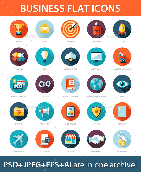 GraphicRiver Business Icons 9444495
