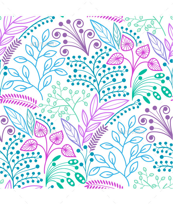 GraphicRiver Bright Floral Seamless Pattern 9495352