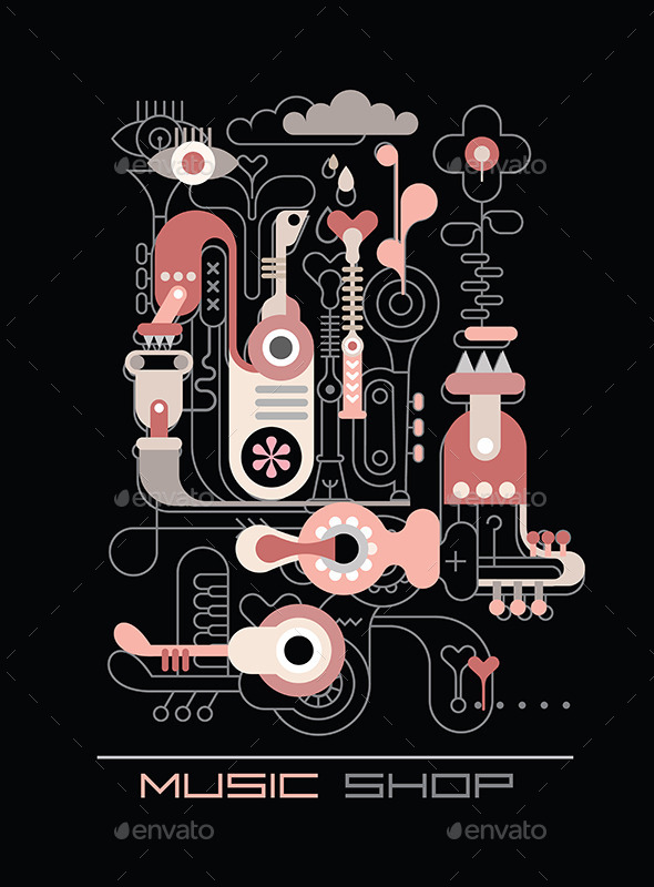 GraphicRiver Music Shop 9495433