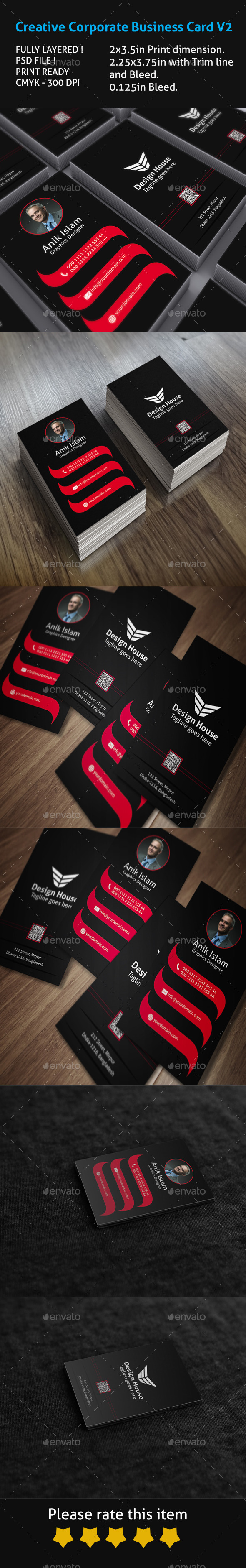 GraphicRiver Creative Corporate Business Card V2 9495467