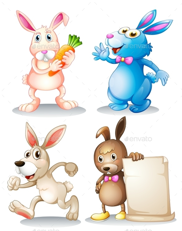 GraphicRiver Four Rabbits 9495517