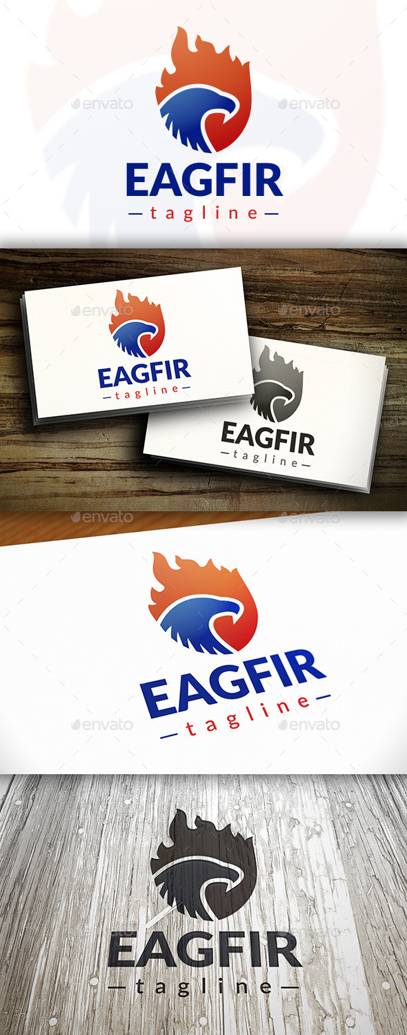 GraphicRiver Eagle Fire Logo 9495567