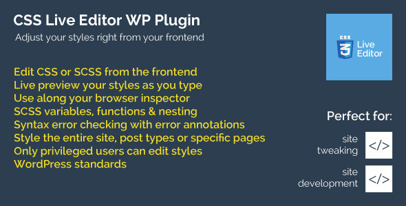 CodeCanyon CSS Live Editor WordPress Plugin 9495573