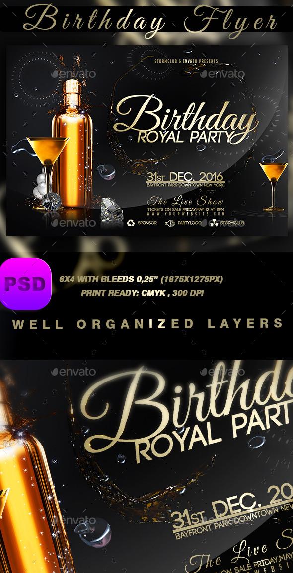 GraphicRiver Birthday Flyer 9495671