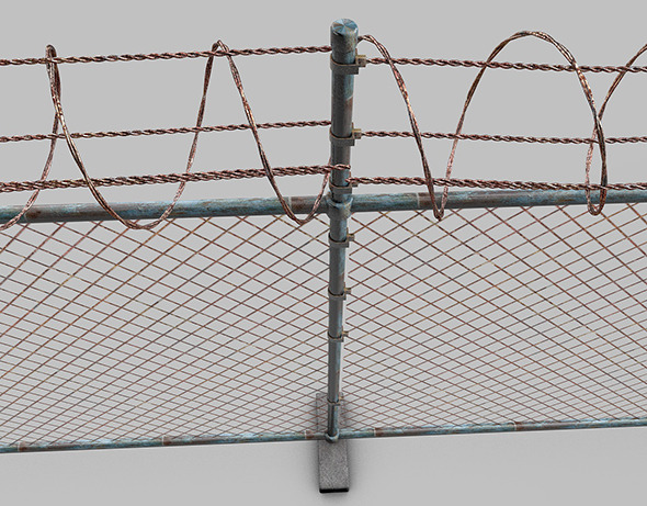3DOcean barbed wire fence 9495676