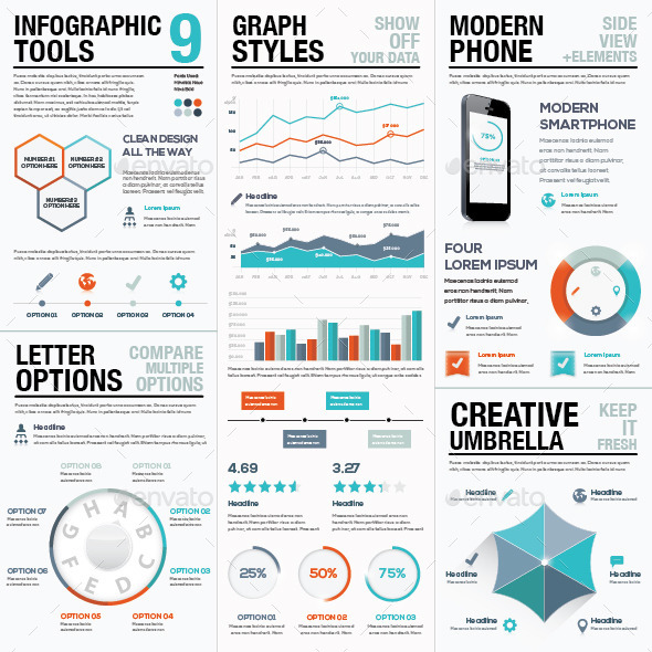 GraphicRiver Infographic Tools 9 Modern Infographics 9495745