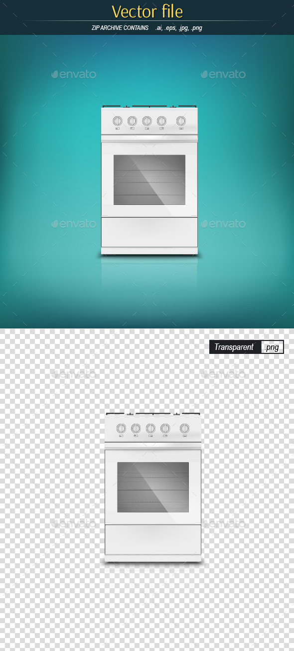 GraphicRiver Gas Stove Front View 9495754