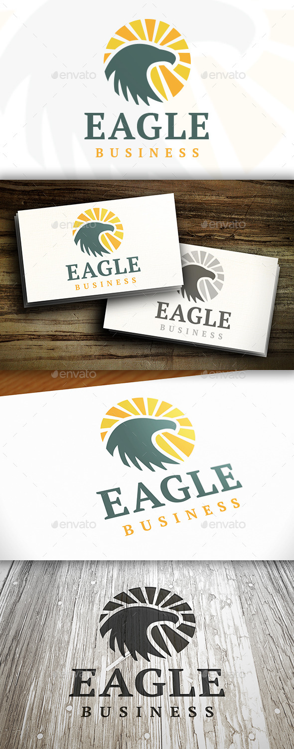 GraphicRiver Eagle Rising Logo 9495854