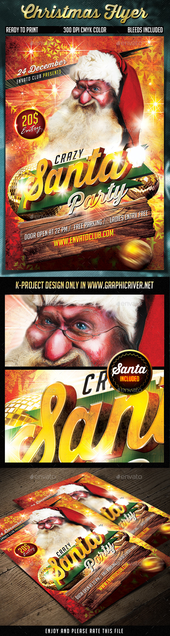 GraphicRiver Christmas Flyer 9454895