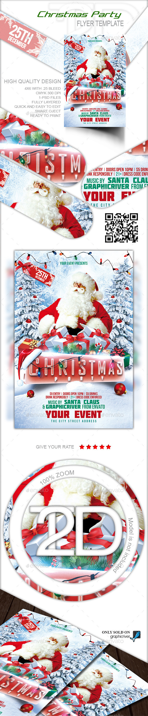 GraphicRiver Christmas Party Flyer 9495935