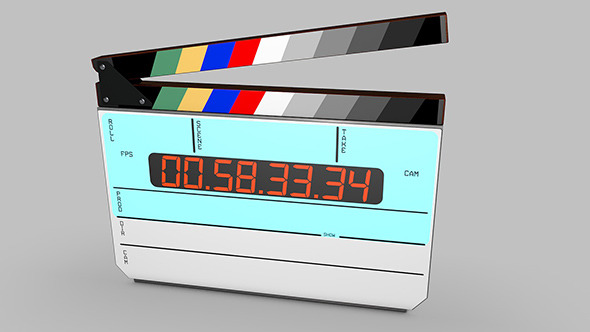 3DOcean Digital movie film clapper board 9495945