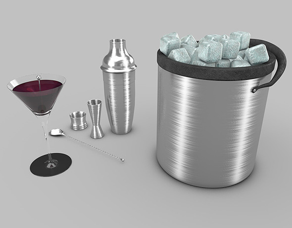 3DOcean cocktail and shaker 9495973