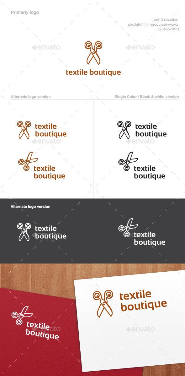 GraphicRiver Textile Boutique Logo 9495989