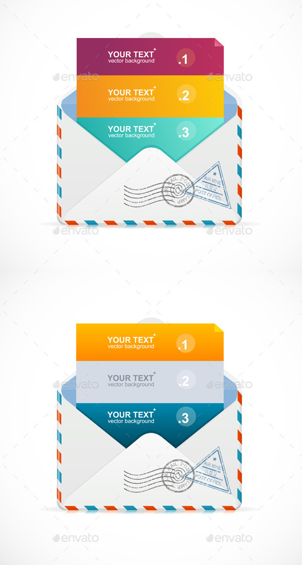 GraphicRiver Mail Postcard Menu with 3 Choices 9495994