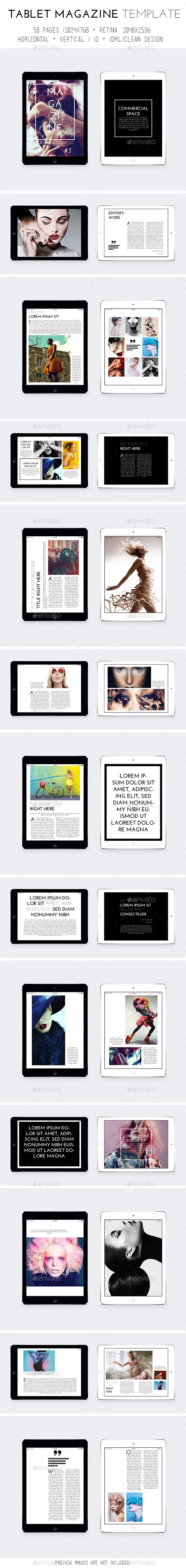 GraphicRiver Tablet Magazine Template 9496071