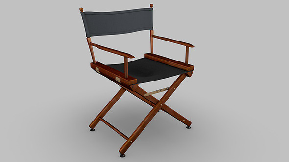3DOcean Directors chair 9496172
