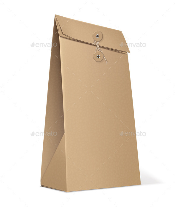 GraphicRiver Paper Bag Isolated on White 9496346