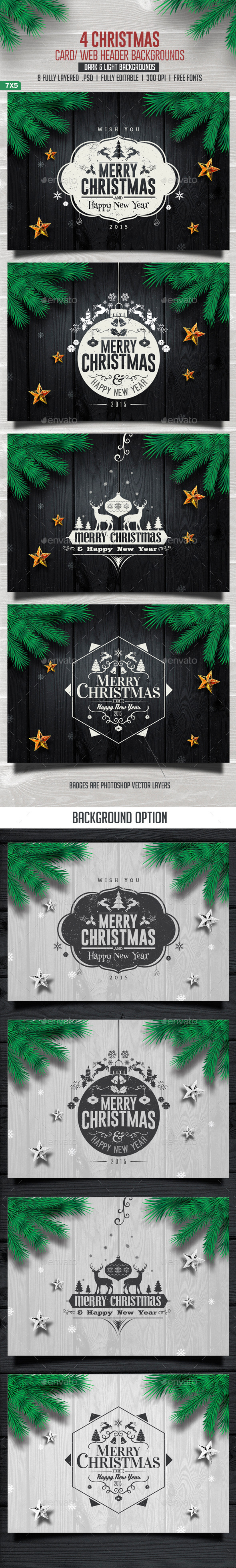 GraphicRiver Christmas Backgrounds 9496394