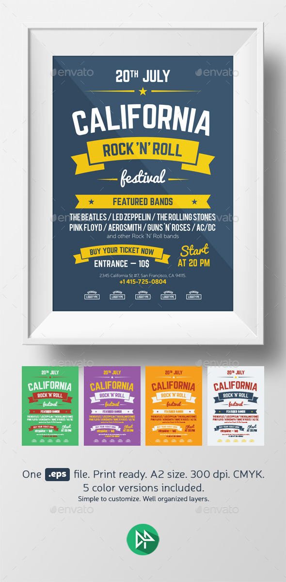 GraphicRiver Music Festival Poster Template 9496539