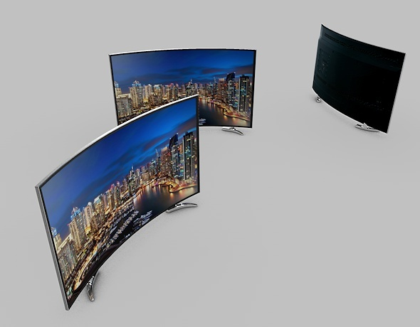 3DOcean Ultra-HD Curved LED TV 9496542