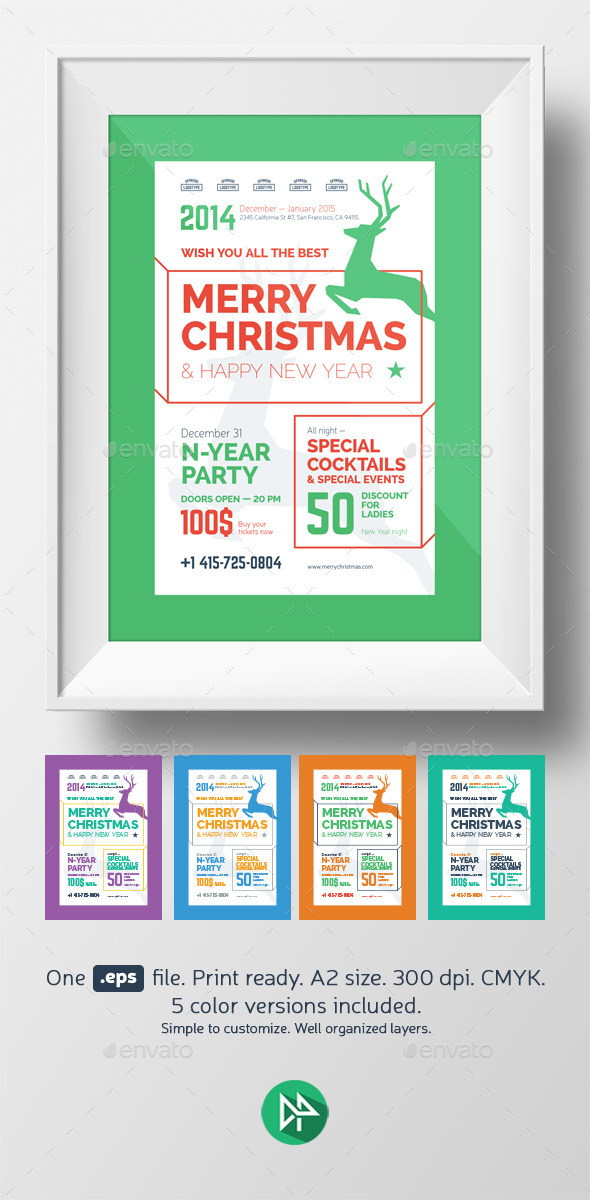 GraphicRiver Christmas Party Poster Template 9496558