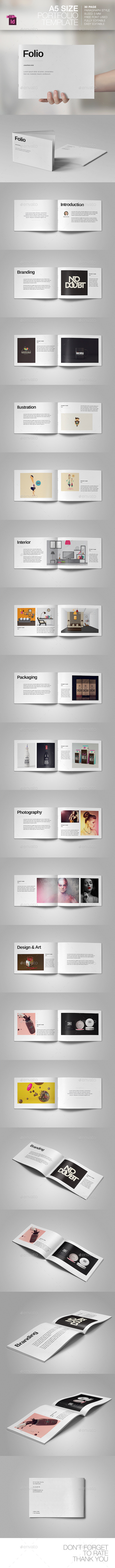 GraphicRiver A5 Portfolio Template 9496625