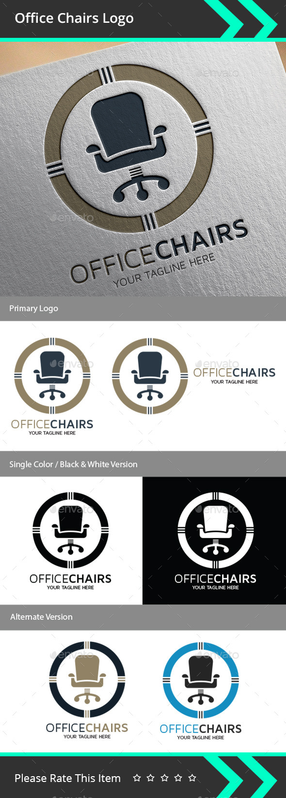GraphicRiver Office Chairs Logo 9496632