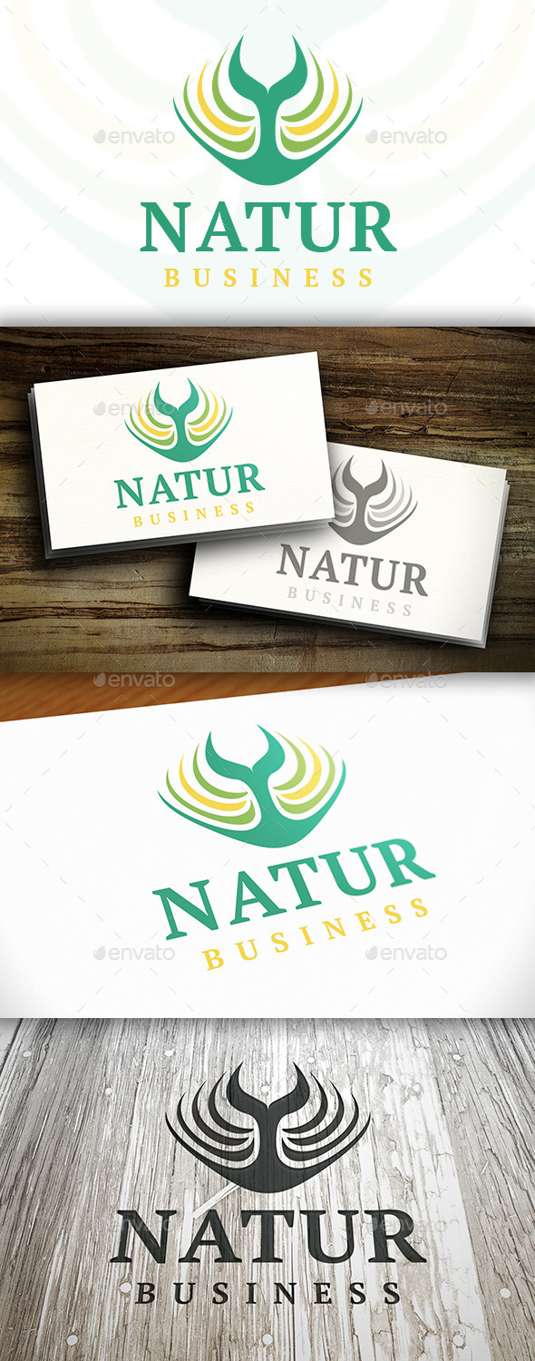 GraphicRiver Tree Nature Logo 9496656