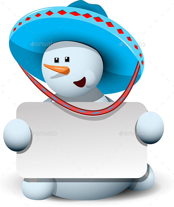GraphicRiver Snowman in a Sombrero 9496666