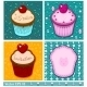 Set of Cake Cards Template - GraphicRiver Item for Sale