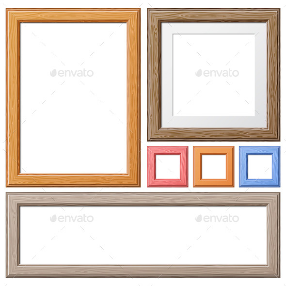 GraphicRiver Collection of Wooden Frames 9497071