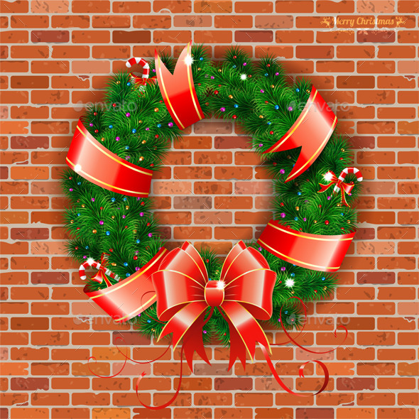 GraphicRiver Christmas Wreath 9497088
