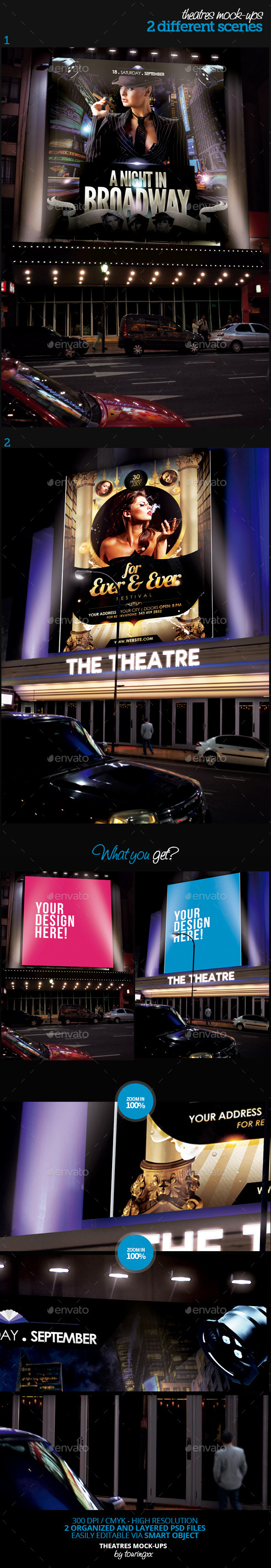 GraphicRiver Theatres Mock-Ups Template Pack 9497113